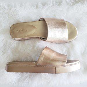 1. State Metallic Rose Gold Slide Sandal 10